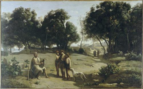 « Homère et les bergers » ; Corot, Jean-Baptiste Camille, 19e siècle. © RMNGrand Palais / Agence Bulloz