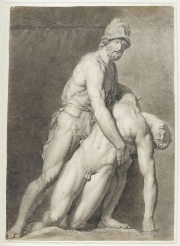 Etude : Ménélas tenant Patrocle, WICAR Jean-Baptiste, H. 74.6 cm ; L. 52.4 cm. Palais des Beaux-Arts – Lille © RMN-Grand Palais / Thierry Le Mage