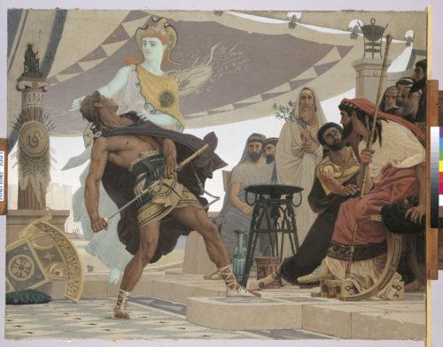 « La colère d'Achille » ; Fournier, Louis Edouard, 1881 (Prix de Rome) © Beaux- Arts de Paris, Dist. RMN-Grand Palais / image Beaux-arts de Paris