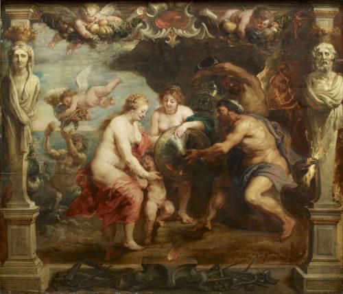 « Thétis recevant de Vulcain les armes d'Achille » ; Rubens, Pierre-Paul, 1630. © RMN-Grand Palais / Thierry Ollivier