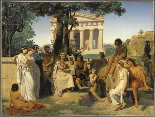 « Homère » ; Leloir, Jean-Baptiste Auguste, 1841 © RMN-Grand Palais (musée du Louvre) / Franck Raux