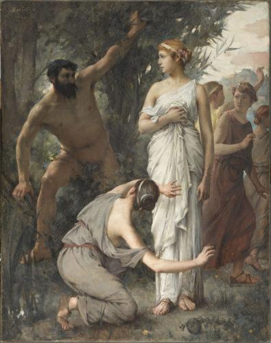 Ulysse et Nausicaa, MARIOTON Jean-Alfred, 1888, huile sur toile, H. 146 cm ; L. 116 cm. Musée d'Orsay © Musée d'Orsay, Dist. RMN-Grand Palais / Patrice Schmidt
