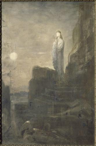 Hélène sur les remparts de Troie, MOREAU Gustave, 1826, huile sur toile, H. 100 cm ; L. 61 cm. Musée Gustave Moreau – Paris © RMN-Grand Palais / René-Gabriel Ojéda