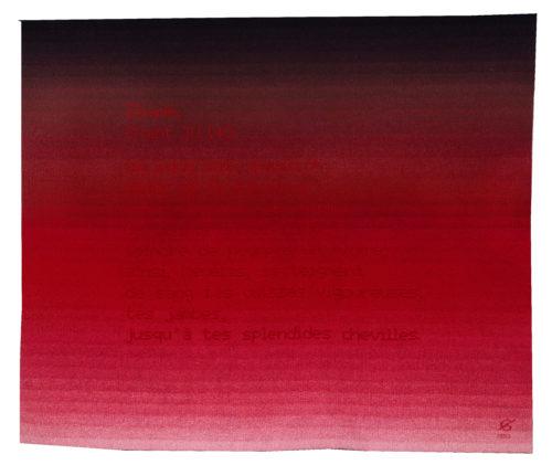 0Extrait de lIliade chant IV Manufacture des Gobelins 1993  Collection du Mobilier National slash Francoise Baussan-tif