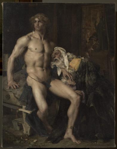 « Priam aux pieds d'Achille » ; Bastien-Lepage, Jules, 19e siècle. © RMN-Grand Palais / Martine Beck-Coppola