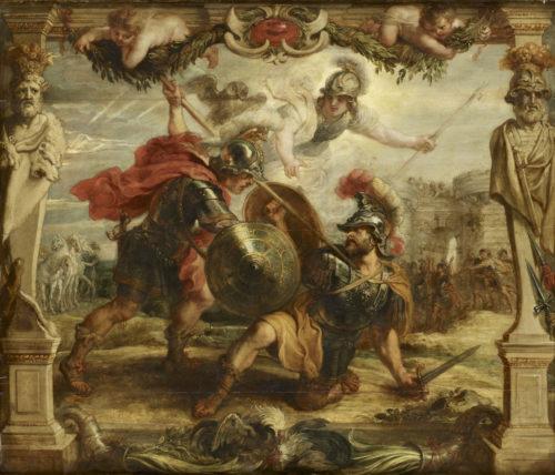 Hector tué par Achille, RUBENS Pierre Paul, 1630, huile sur bois. Musée des Beaux-Arts - Pau © RMN-Grand Palais / Thierry Ollivier