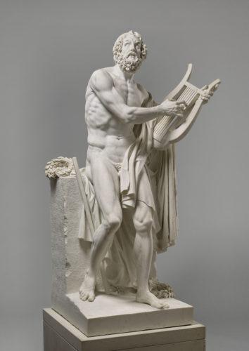 Homère, statue, ROLAND Philippe-Laurent, 1812, marbre, H. 212 cm ; L. 117 cm ; P. 98 cm. Musée du Louvre – DS © RMN-Grand Palais (musée du Louvre) / Tony Querrec