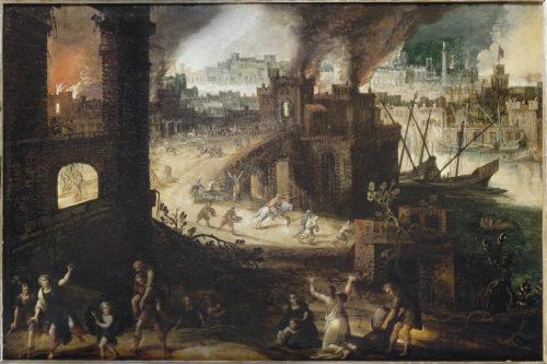 « Incendie de Troie » ; Brueghel Pieter, le Jeune dit Brueghel d'Enfer © RMNGrand Palais / Agence Bulloz