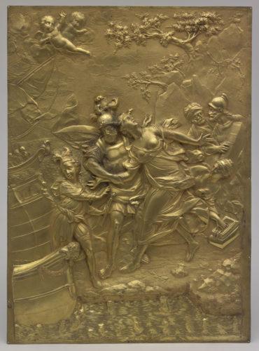 Enlèvement d'Hélène, BAUDOUX, Cuivre doré, ciselé. Palais des Beaux-Arts – Lille © RMN-Grand Palais / Stéphane Maréchalle