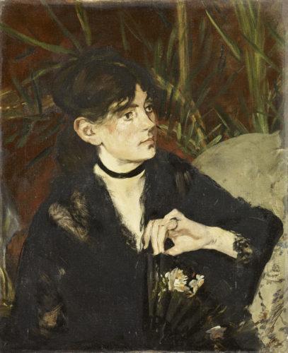 3Portrait de Berthe Morisot a leventail – MANET Edouard – 1874  RMN-Grand Palais musee dOrsay – Herve Lewandowski-jpg
