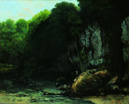 1Le ruisseau du puits noir – COURBET Gustave – vers 1865  Toulouse musee des Augustins- Photo Daniel Martin-jpg