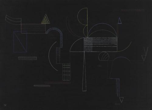 5Von hier bis Dort – KANDINSKY Vassily – 1933  Centre Pompidou MNAM-CCI Dist- RMN-Grand Palais – Philippe Migeat-jpg