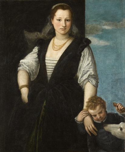 3Portrait de femme avec un enfant et un chien – VERONESE – Vers 1546-1548  RMN-Grand Palais musee du Louvre-Franck Raux-jpg