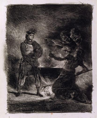 1Macbeth consultant les sorcieres – Eugene DELACROIX – 1825  BnF-jpg