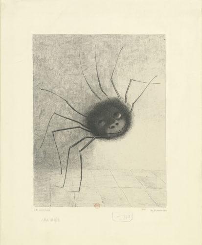 1Araignee – Odilon REDON – 1887  BnF-jpg