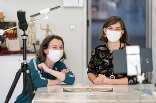 Ateliers à distance en direct du musée !  © Frédéric Iovino - Louvre-Lens