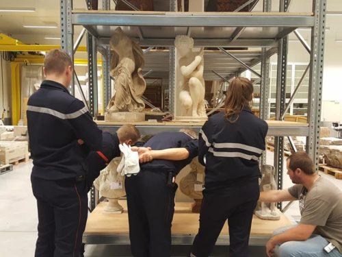 Formation PSO pour les sapeurs-pompiers au Louvre-Lens © Louvre-Lens - T. Ameil