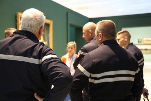 Formation PSO pour les sapeurs-pompiers au Louvre-Lens © Louvre-Lens - S. Hadid